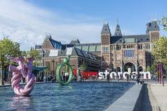 Rijksmuseum em Amsterdão, Países Baixos Imagem de Stock