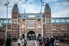 Rijksmuseum en Amsterdam Foto de archivo