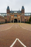 Rijksmuseum entrance vertical view. Rijksmuseum facade  in Amsterdam Holland vertical view Royalty Free Stock Photos