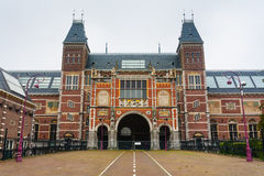 Rijksmuseum main facade. In Amsterdam Holland Stock Images