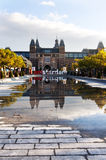 Rijksmuseum museum area in Amsterdam Royalty Free Stock Photography
