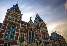 Rijksmuseum - muzeum narodowe dedykujący sztuki i historia Jeden popularny muzeum w Europa Fotografia Stock
