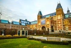 Rijksmuseum - muzeum narodowe dedykujący sztuki i historia Jeden popularny muzeum w Europa Zdjęcie Royalty Free