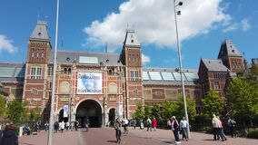 Rijksmuseum, the national museum of arts and history at the Museum Square in Amsterdam