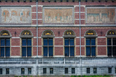 Rijksmuseum side view. Rijksmuseum lateral view of the building,Amsterdam ,Holland Stock Photography
