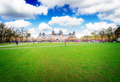 Rijksmuseum and Statue I am Amsterdam Royalty Free Stock Photos