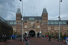 Rijksmuseum view from Museum Square Royalty Free Stock Photo