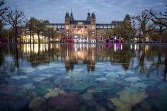 Rijksmuseumen i Amsterdam Arkivbild