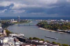 Rijn, Keulen, Duitsland Stock Foto