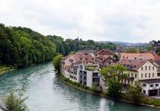 Rijn-rivier in Berne Royalty-vrije Stock Foto