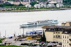 Rijn-rivier in Duitsland Royalty-vrije Stock Afbeelding