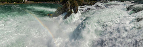 Rijn-watervallen in het detail van Zwitserland Stock Fotografie
