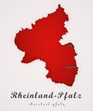 Rijnland-Pfalz Duitsland Art Map Stock Foto