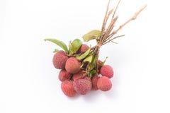 Rijp fruit van het litchi (chinensis Lychee) Royalty-vrije Stock Fotografie