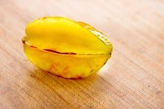 Rijp geel carambola of sterfruit Stock Fotografie