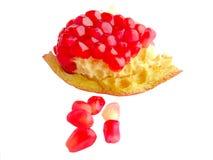 Rijp granaatappelfruit Royalty-vrije Stock Afbeeldingen