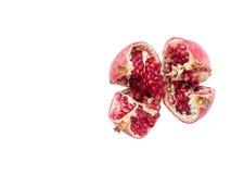 Rijp granaatappelfruit op een witte achtergrond Royalty-vrije Stock Foto's