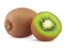 Rijp kiwifruit met de helft Royalty-vrije Stock Afbeeldingen