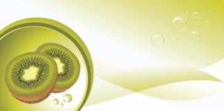 Rijp kiwifruit op de abstracte achtergrond Stock Afbeelding