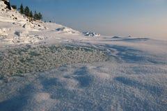 Rijp op ijs Stock Foto's