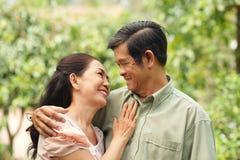 Rijp paar in liefde Royalty-vrije Stock Fotografie