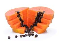 Rijp papajafruit op witte achtergrond Royalty-vrije Stock Fotografie