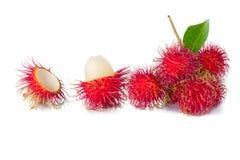 Rijp rambutan/rood rambutan/Aziatisch fruit stock afbeelding