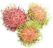 Rijp rambutan vruchten stock afbeeldingen