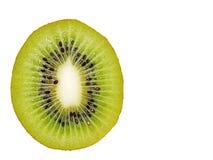 Rijp sappig kiwifruit in een close-upsectie Stock Afbeelding
