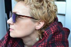 Rijp volwassen vrouwen` s helft-gezicht Royalty-vrije Stock Afbeelding