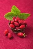 Rijpe aardbeien in een kom Stock Afbeeldingen