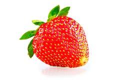 Rijpe aardbeien op een witte achtergrond Royalty-vrije Stock Fotografie