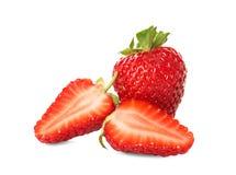 Rijpe aardbeien op witte achtergrond Royalty-vrije Stock Fotografie