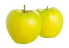 Rijpe appel twee Stock Foto