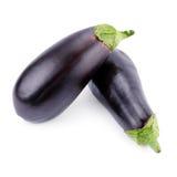 Rijpe aubergines Stock Afbeeldingen