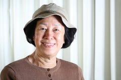 Rijpe Aziatische dame Stock Foto