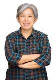 Rijpe Aziatische vrouw Stock Foto's