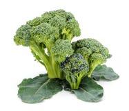 Rijpe broccoligewassen op bladeren royalty-vrije stock foto's