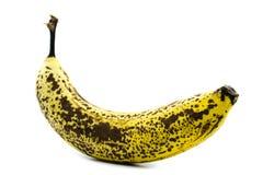 Rijpe bruine die banaan op witte achtergrond wordt geïsoleerd royalty-vrije stock foto