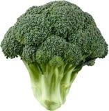 Rijpe die broccoli op wit worden geïsoleerd royalty-vrije stock afbeelding