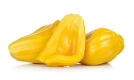 Rijpe die Jackfruit op witte achtergrond wordt geïsoleerd Royalty-vrije Stock Fotografie