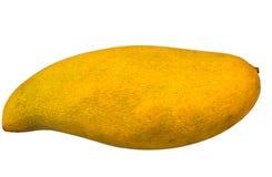 Rijpe die mango's op witte achtergrond met het knippen van weg worden geïsoleerd Stock Foto