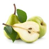 Rijpe geïsoleerde peren stock afbeelding
