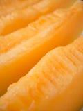Rijpe gele meloenplakken Royalty-vrije Stock Foto's