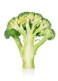 Rijpe geïsoleerde broccoli Royalty-vrije Stock Afbeeldingen