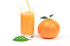 Rijpe grapefruit met sap Royalty-vrije Stock Fotografie
