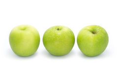 Rijpe groene appel Stock Foto's