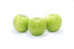 Rijpe groene appel Stock Foto