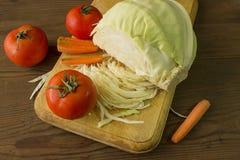 Rijpe groenten op de lijst Royalty-vrije Stock Fotografie