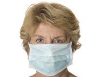 Rijpe healthworker met masker Royalty-vrije Stock Afbeeldingen